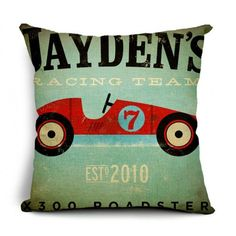 Throw Pillow Covers | Jaydens Racing Team Cover| UniikStuff