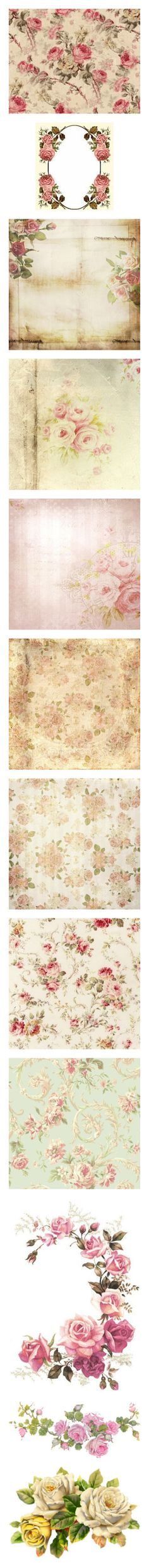 """""""Romantic Embellishments ~"""" by milluskah ❤ liked on Polyvore featuring romantic, items, fillers, embellishments, backgrounds, wallpaper, images, floral, filler and frames"""
