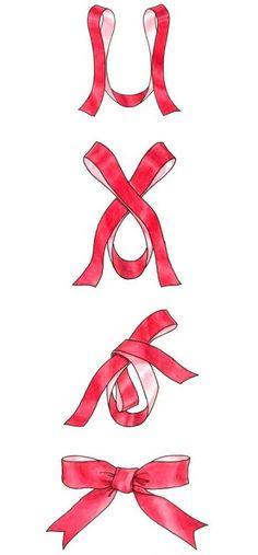 Baby diy ideas hair bows 50 ideas for 2019 Diy Bow, Diy Ribbon, Ribbon Bows, Ribbon Bow Tutorial, Wreath Bows, Ribbons, Christmas Bows, Christmas Wrapping, Diy Christmas Gifts
