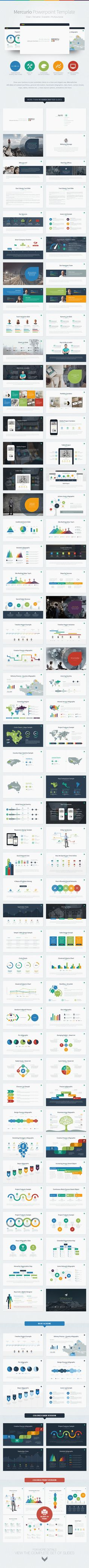 Buy Mercurio PowerPoint Presentation Template by EAMejia on GraphicRiver. Mercurio is a clean, versatile, scalable and multipurpose PowerPoint Template to present your business to potentials . Presentation Layout, Presentation Slides, Business Presentation, Powerpoint Presentation Templates, Company Presentation, Powerpoint Presentations, Creative Powerpoint, Graphisches Design, Slide Design