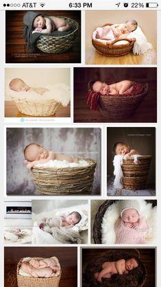 babies in baskets Newborn Bebe, Newborn Posing, Newborn Shoot, Baby Girl Newborn, Newborn Photography Poses, Newborn Baby Photography, Children Photography, Newborn Pictures, Baby Pictures