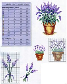 lavender Cross Stitch Cards, Puzzle, Pattern, Lavender, Word Search, Embroidery, Puzzles, Economic Model, Riddles