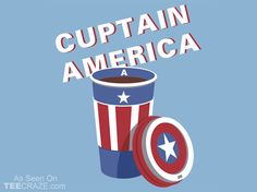 Cuptain America T-Shirt Designed by sirwatson    Source: http://teecraze.com/cuptain-america-t-shirt/