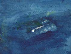 Dora Maar (Croatian-French, 1909-1997) Blue Eternity, 1957-58. Oil on paper, 21…