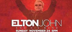 The legendary Sir Elton John and his band play #SLU's Chaifetz Arena on November 24. Tickets go on sale Monday, September 16 at 10am.