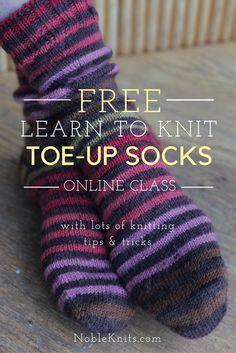 How to knit socks   learn to knit socks   sock knitting   toe up socks   free knitting pattern   knitting tips