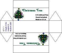 Printable Mini Christmas tree box