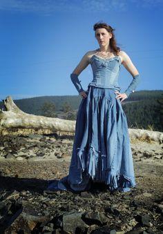 Jean Denim Ballroom Gown Small/medium by SageOfTheTrades on Etsy, $1650.00