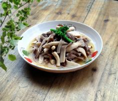 Braised Oyster Mushroom with Chicken Soup