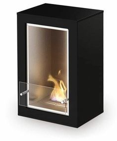 Blu Boy Slimboy Fireplace Black Gloss freestanding fireplace heater