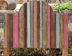 Reclaimed Wood Headboard with Paint Arched Top by FooFooLaLaChild