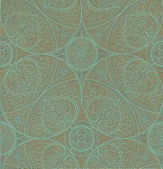 Yasmin Gold Turquoise wallpaper by Eijffinger