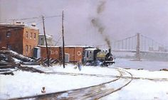 Nicholas Berger, Clearing the Track, 2013, oil on board, 11 X 17 inches