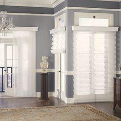 Idea for Living Room window treatments.
