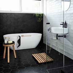 This bathroom at @nord.house is just divine! This Scandinavian inspired retreat in Red Hill, Victoria is a must see!