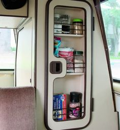 spice-cabinet in the mirror door! - Vanagon Hacks