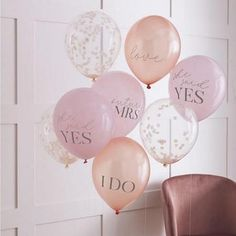 8 Hen Party She Said Yes Confetti Balloons, Blush Pink Rose Gold Balloons, Hen Party Decorations, Bridal Shower Decorations, Bachelorette Hen Party Balloons, Bride To Be Balloons, Bridal Shower Balloons, 5 Balloons, Wedding Balloons, Latex Balloons, Air Balloon, Engagement Balloons, Bandeau Outfit