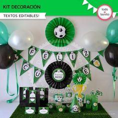 Soccer Birthday Parties, Football Birthday, Soccer Party, 90th Birthday, Soccer Decor, Batman Party, Birthday Decorations, Party Themes, Ideas Originales