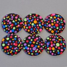 780452230f7 F-1331 Colorful Polka Dot Buttons (Set of 6)
