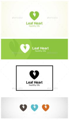 """Healthy Heart Logo: This is """"Healthy Heart"""" Logo template. It stands out and instantly recognizable. Perfect for the Medical Community, Health Insurance, Green Platform, Hospital or Health Clinic. The logo looks great on white and black backgrounds. It will look great on a business card, letterhead or envelope, as well as a web site or any other digital media."""