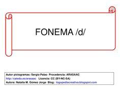 Fonema d by Logopedia Creativa via slideshare