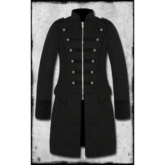 Tripp NYC Marshall Black Military Jacket | Mens Steampunk Jackets & Coats By Tripp NYC ($14) found on Polyvore