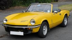 Triumph Spitfire - I love British sportscars- rebuilt one of these and toured Europe - never put the top up!
