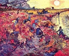 The red wine gardens Vincent Van Gogh Reproduction | 1st Art Gallery
