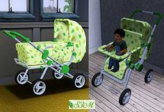 Sims 3 object, kids, baby, buggy