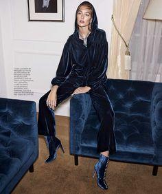 Harper's Bazaar Spain December 2017 Josephine Le Tutour by Zoltan Tombor