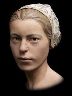 3-D model of a girl's face