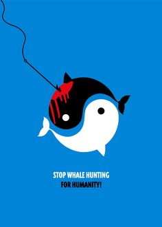 Stop Whale Hunting. Seriously. it must stop. Watching The Cove seriously messed me up with the dolphin slaughtering in Taiji.. #messedup