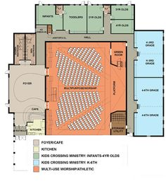 Amazing Design of Small Church Floor Plans Sacred Architecture, Church Architecture, Architecture Design, Education Architecture, Auditorium Architecture, Auditorium Design, Church Building, Building Plans, Building Design