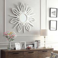 INSPIRE Q Octavia Antiquity Sunburst Accent Wall Mirror   Overstock.com Shopping - The Best Deals on Mirrors