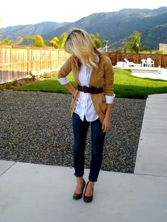 Denim, white and tan, can't pull it off, but one can dream...