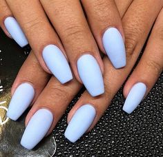 nails summer colors 2017, Matte-periwinkle | DIY Acrylic Nail Designs for Summer