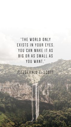 Be inspired to pursue dream life with these phone wallpaper quotes to inspire. Fitzgerald F. Scott quote With the right mindset and inspiration, what would you do with your life? Find out with these phone wallpapers in inspire. World Quotes, Life Quotes Love, Great Quotes, Quotes To Live By, Me Quotes, Inspirational Quotes, Qoutes, Quotes On Dreams, Family Quotes