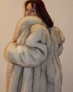 White Fox, Blue And White, Puffer Coat With Fur, Fabulous Fox, Sheepskin Coat, Fox Fur Coat, Queen, Fur Fashion, Style Guides