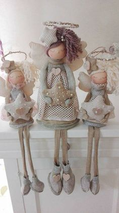 1 million+ Stunning Free Images to Use Anywhere Christmas Sewing, Christmas Gnome, Primitive Christmas, Christmas Angels, Angel Crafts, Xmas Crafts, Diy And Crafts, Fabric Toys, Theme Noel