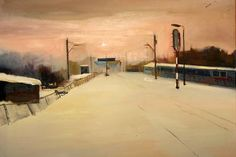 "Marta Zamarska; Painting, ""A Railway Impression XII"" #art"