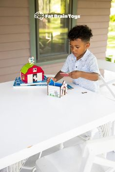 Follow the blueprints to build these puzzles like a reach architect! These 3D chunky puzzles include a doghouse, birdhouse, cabin, or barn! They encourage fine motor skills, spatial reasoning, logic, concentration, and imaginative play! From Fat Brain Toys.