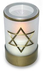 Sentinel® Tribute Flameless Memorial Candle with Star of David