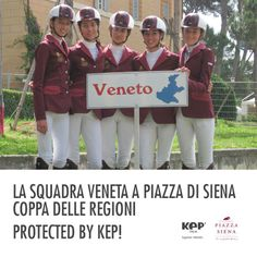 La squadra Veneta a Piazza di Siena #protectedbykep