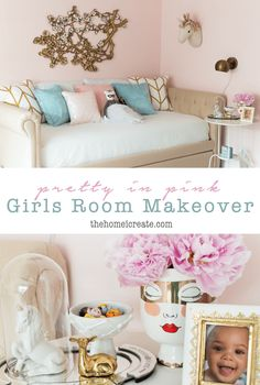 Girls Bedroom Ideas | Girls Room | Pink Girls Bedroom | Kids Gallery Wall |  Daybed