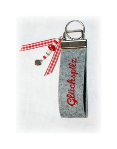 Schlüsselbänder - Filz-Schlüsselband *Glückspilz* - ein Designerstück von FilzPilz---HandArbeit-mit-Herz bei DaWanda