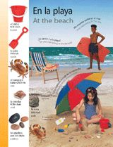 At the beach (En la playa) themed vocabulary | Introduce Spanish words for items students would find at the beach with these vocabulary handouts.  Get the printables from TeacherVision: https://www.teachervision.com/spanish-language/printable/70424.html