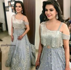 Buy Crop Top and Skirt Wedding Dress Indian Designer Outfits, Indian Outfits, Designer Dresses, Indian Attire, Choli Designs, Blouse Designs, Kaftan, Modele Hijab, Indian Gowns Dresses