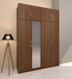 Camila Four door hinged Wardrobe with loft designed in PLPB