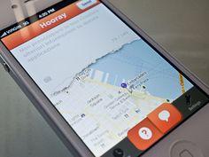 Freakin' torn paper iPhone UI by Kerem Suer