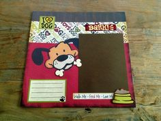scrapbook a dog lover | SALE 12x12 Dog Lover Premade Scrapbook Layout by TheScrapbookCafe, $10 ...
